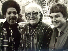 "Audre Lorde, Meridel Le Sueur, Adrienne Rich. Man, I wish I'd taken this photo, but really it's from <div xmlns:cc=""http://creativecommons.org/ns#"" about=""http://www.flickr.com/photos/kkendall/820298895/""><a rel=""cc:attributionURL"" href="